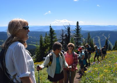 On the trail at Sun Peaks July 2019